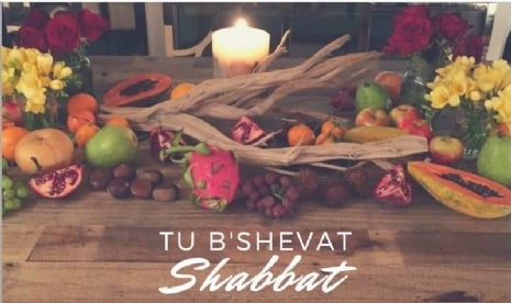 Community Welcoming of Shabbat and Tu B'Shvat! @ Zoom link will be emailed