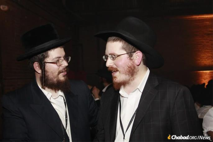 Moshe Margareten and the Aleph Institute's Rabbi Zvi Boyarsky not long after they initially met in 2009.