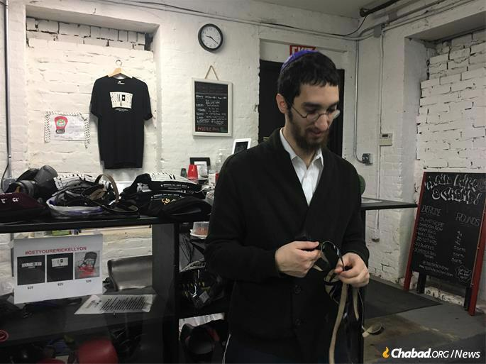 """""""Spar Mitzvah"""" in the South Bronx: Tefillin followed by a boxing workout."""