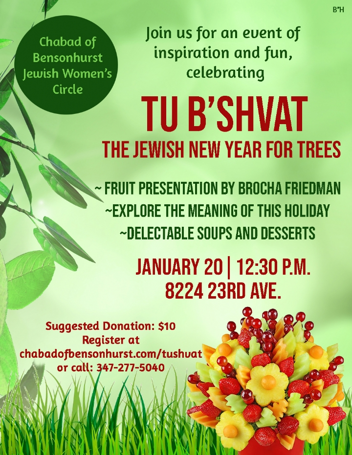 Tu Bshvat Women's Event - Chabad of Bensonhurst