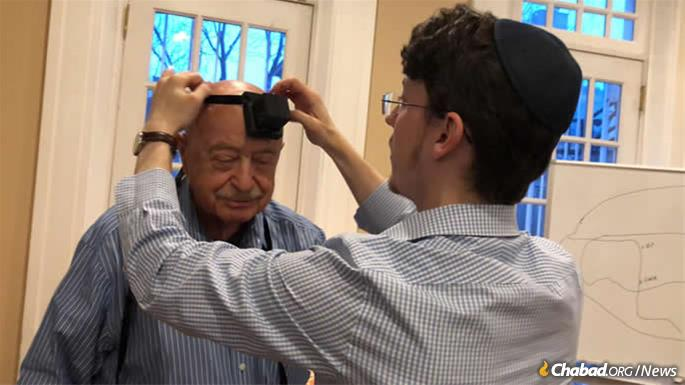 Gherovici celebrated his bar mitzvah in Philadelphia by putting on tefillin for the first time, and then singing and dancing with a group of young new friends.
