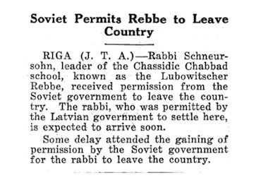 The Rebbe's release from Soviet Russia marked a turning point in his lifelong efforts on behalf of Judaism.