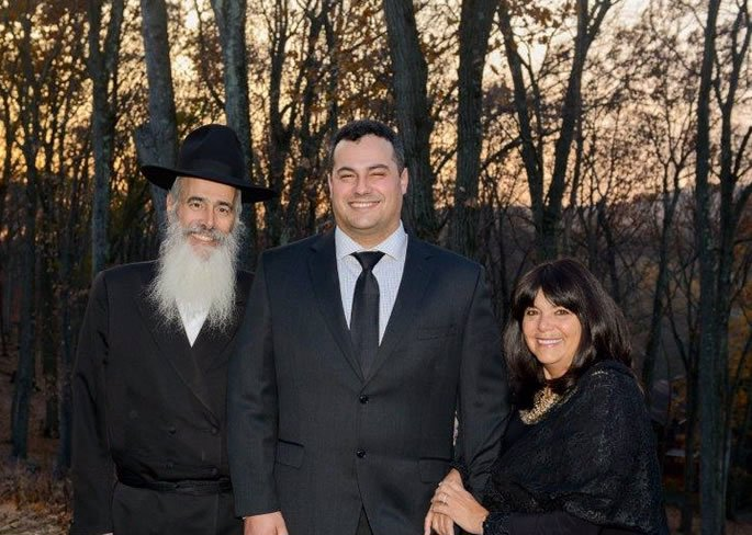 The author and her husband at their son's recent wedding.