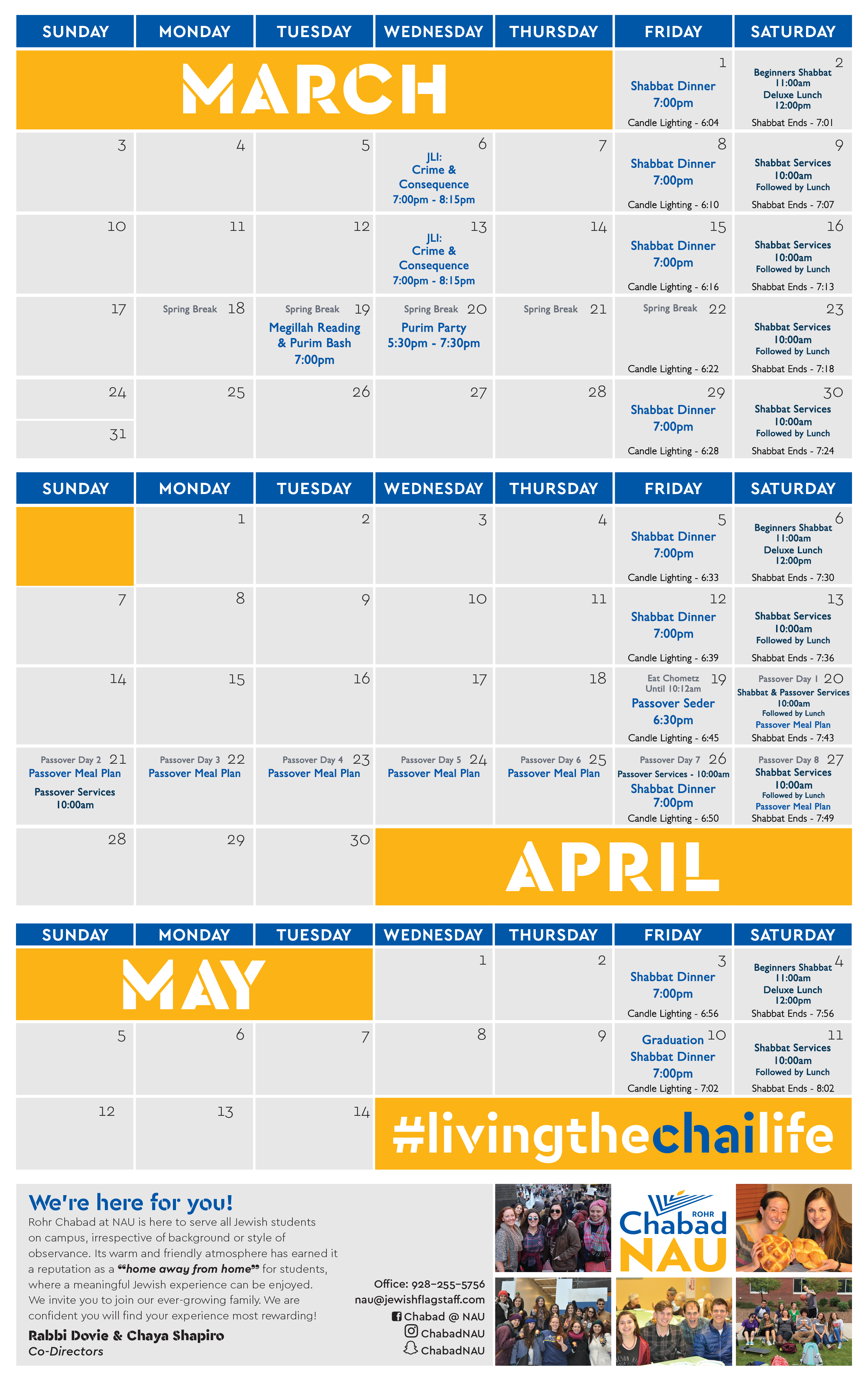 Calendar of Events - Chabad of Flagstaff