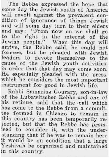 (Chicago Tribune, May 9, 1930, accessed courtesy of the National Library of Israel and Tel Aviv University)