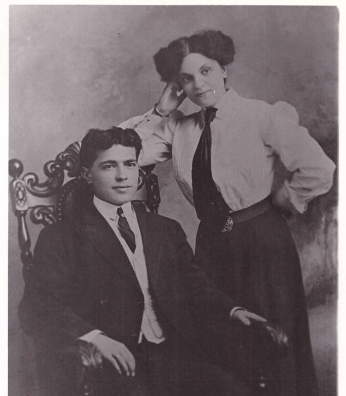The author's grandparents, Samuel Broida and Ida Leah Devorah Osherwitz, at their engagement (c. 1910).