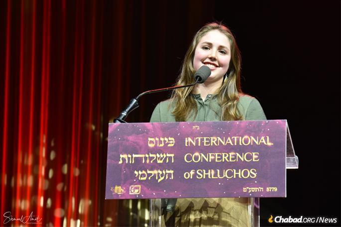 Chaya Mushka Rivkin, the daughter of Chabad emissaries at Tulane University in New Orleans, shared memories of growing up as a young shlucha on campus. (Photo: Shmuel Amit)
