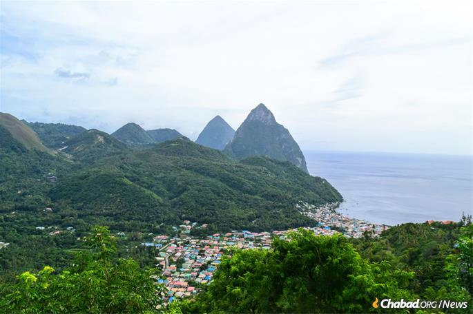 While the towering Pitons—St. Lucia's iconic twin volcanic spires—offered scenic vistas, a Jewish community was considerably harder to find.
