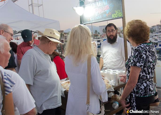 A booth at a local marina is one way of attracting tourists and local residents.