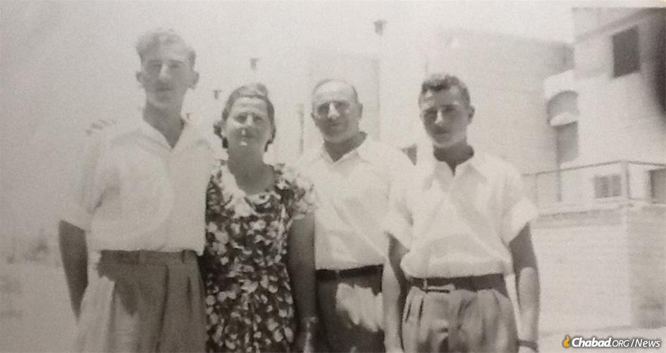 Mordechai (Murray) Miller, left, with his parents and brother in Israel in the early 1950s. After living with his family in a Displaced Persons camp after World War II, he fought in Israel's War of Independence before marrying and moving to America.