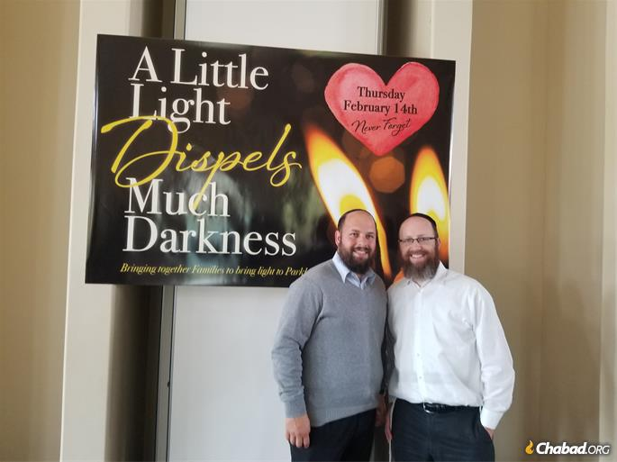 Rabbi Shuey Biston and Rabbi Mendy Gutnick of Chabad of Parkland, which will be hosting an event in memory of those killed.