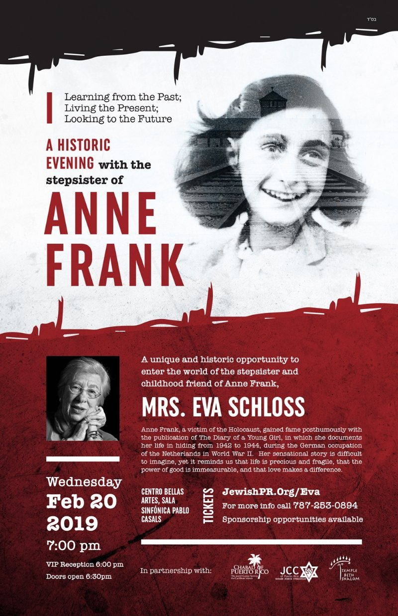 An Evening with Eva Schloss Poster