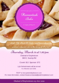 Doylestown | Hamantash Bake for Women & Girls