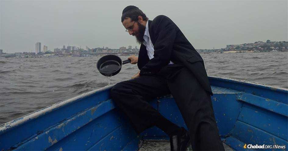 When Rabbi Arieh Raichman was growing up in Texas, he never imagined that he would be koshering pots and pans in Brazil's Amazon River.
