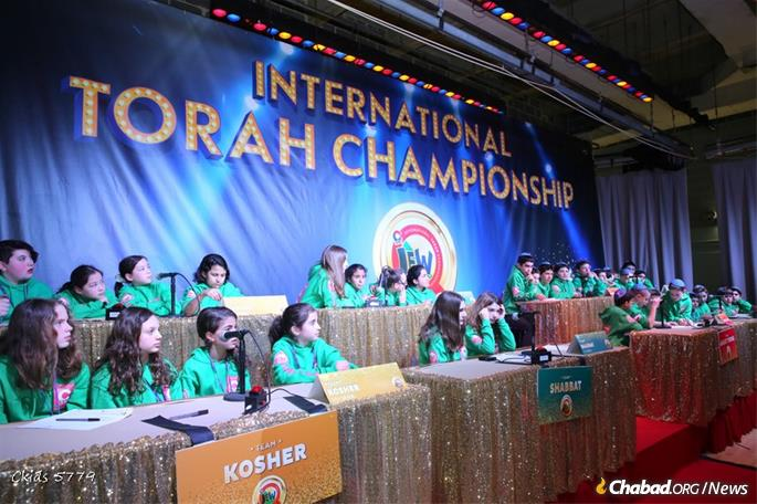 Competitors were students not enrolled in Jewish day school and who learn independently under the guidance of their local Chabad-Lubavitch emissaries.