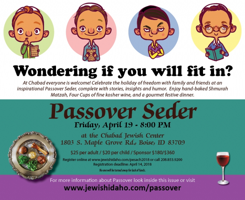 Pesach Seder - Community Passover Seder - Chabad Lubavitch