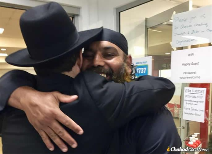 """We cannot overestimate the value of every hug, every gesture, every hand extended in support,"" said the rabbi."