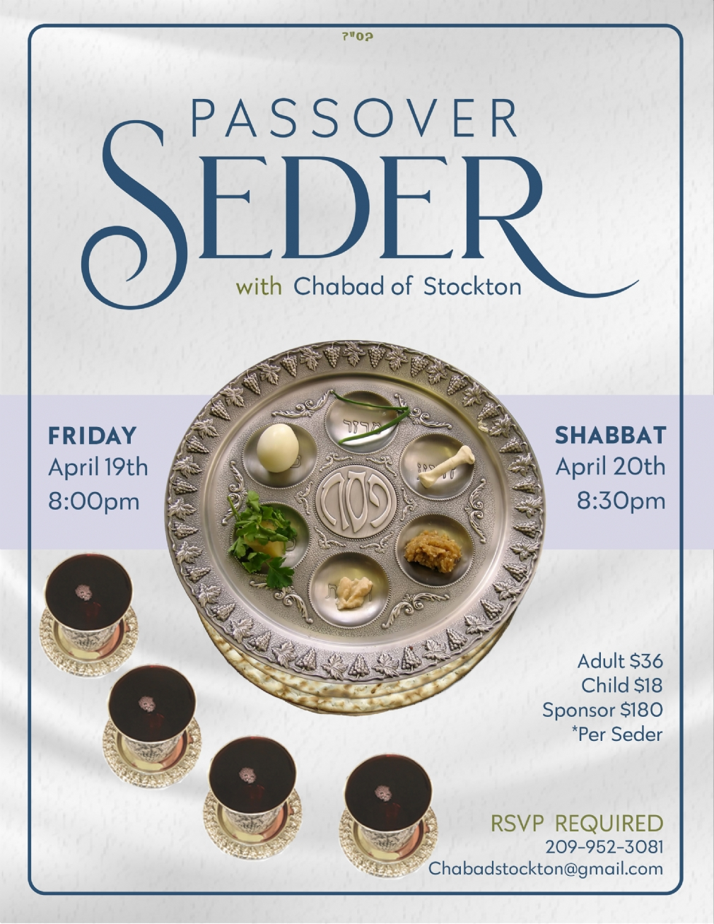 Passover Seder 2019 - Chabad of Stockton