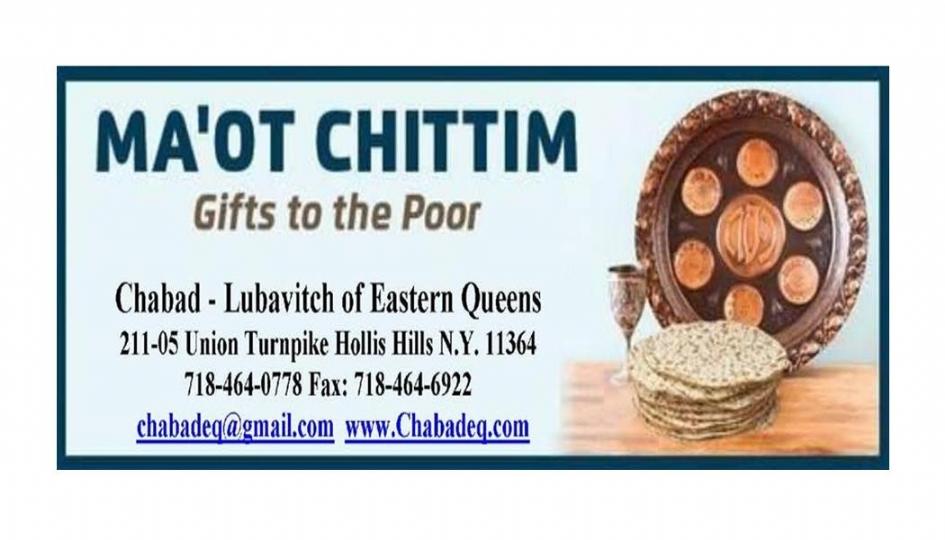 MA'OT CHITTIM - Chabad of Eastern Queens