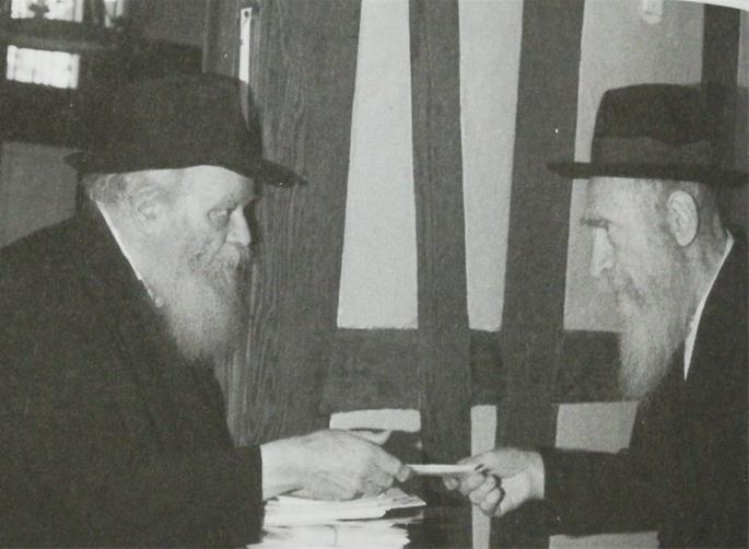 Reb Yaakov Friedman et le Rabbi de Loubavitch.