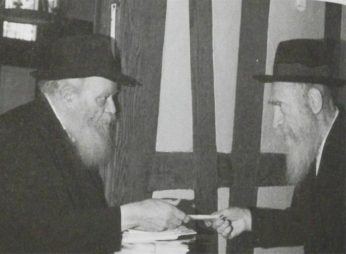 Reb Yaakov Friedman and the Lubavitcher Rebbe.