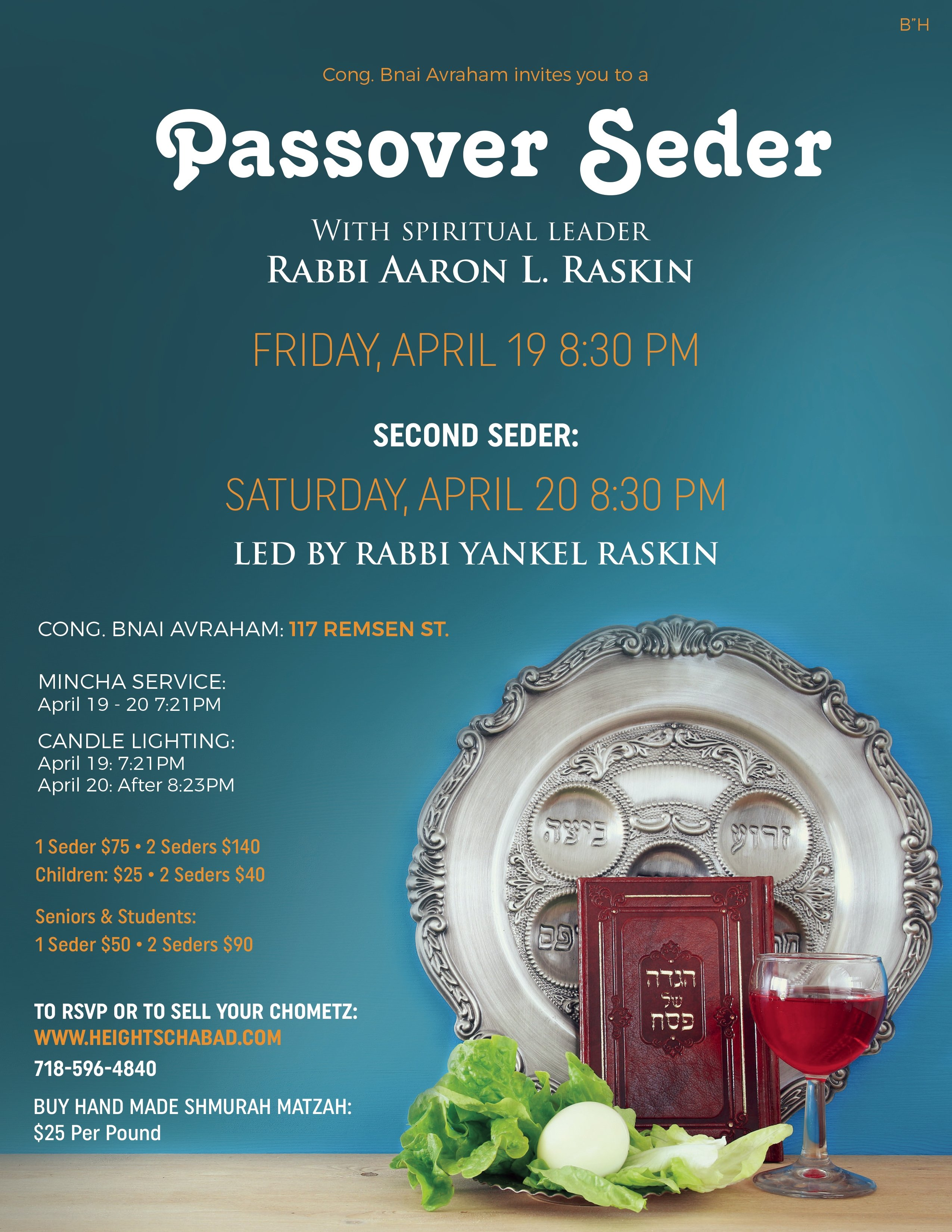Passover 2019 with Chabad - Chabad of Brooklyn Heights