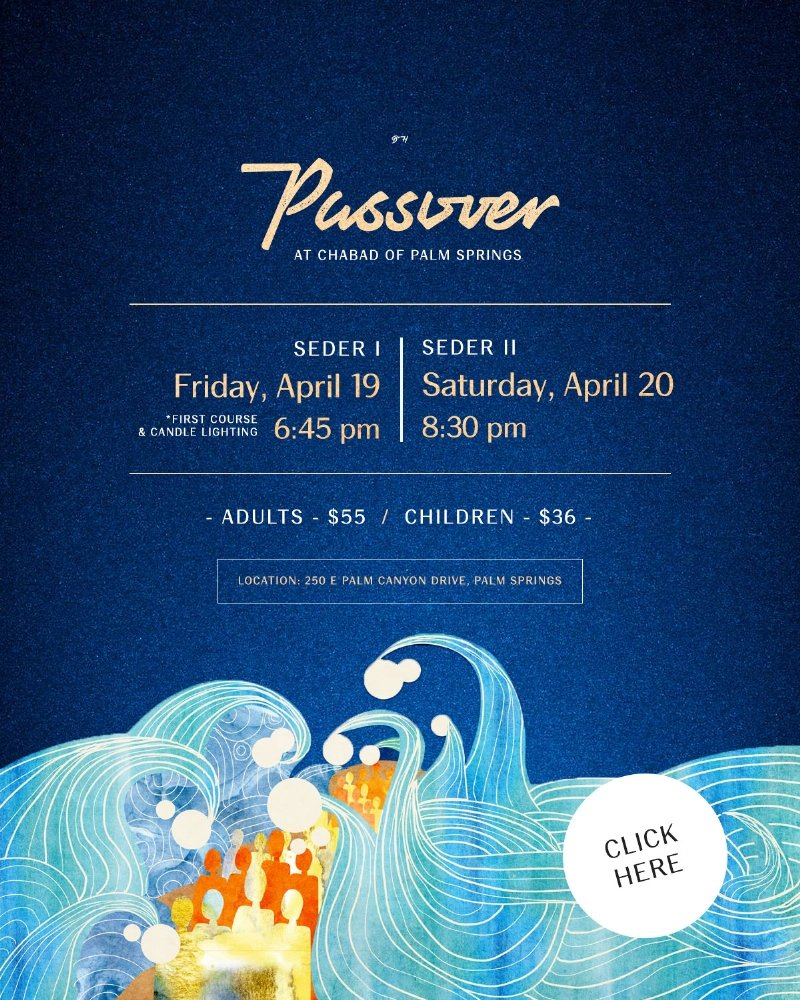 Passover Seder Chabad Palm Springs