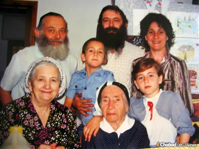 Four generations of the Ash family in Israel