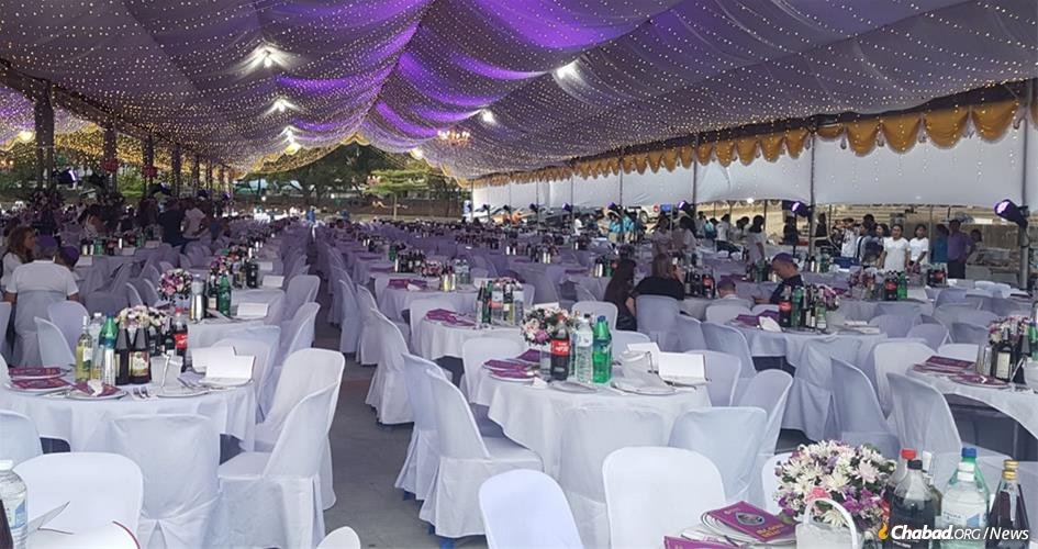 In Koh Samui, Thailand, the total number of Seder participants this year could exceed 2,800 under six separate tents.
