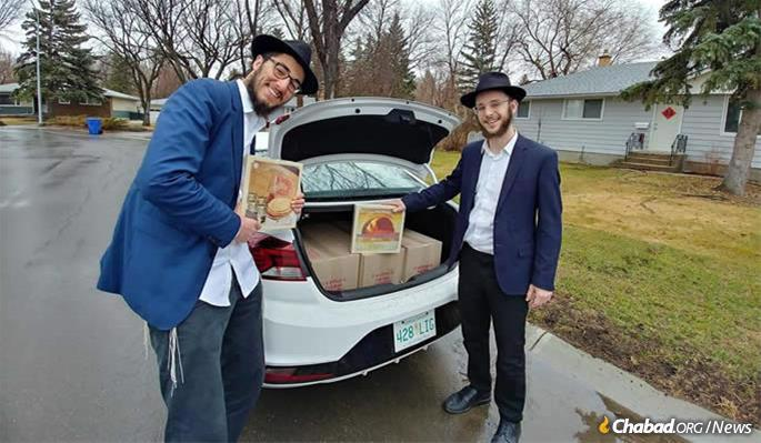 Rabbincal students bring matzah and other Passover staples to remote Jewish communities worldwide.