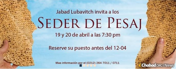 Chabad will once again hold Passover seders this year.
