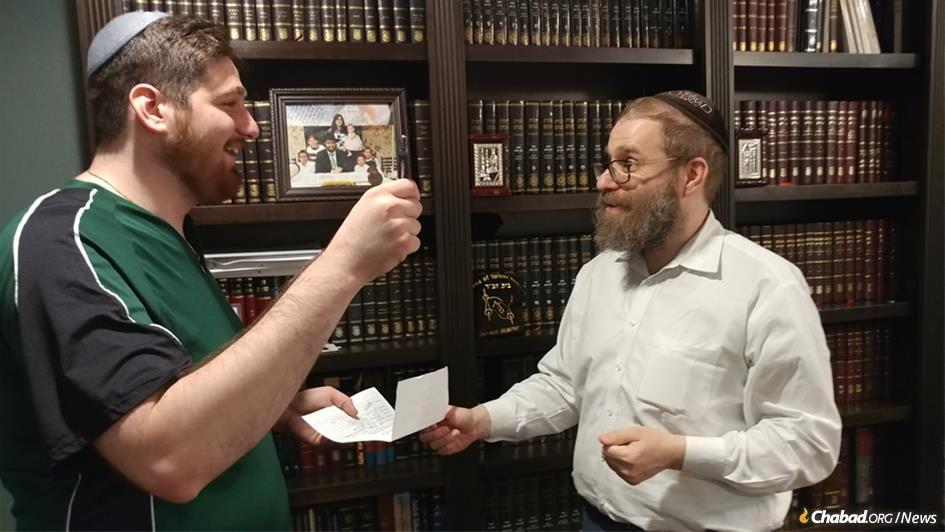 Ian Zlotnik of Houston authorizes Rabbi Chaim Lazaroff to sell his chametz. For those who are unable to sell their chametz through a local rabbi, Chabad.org offers an online Sell Your Chametz 