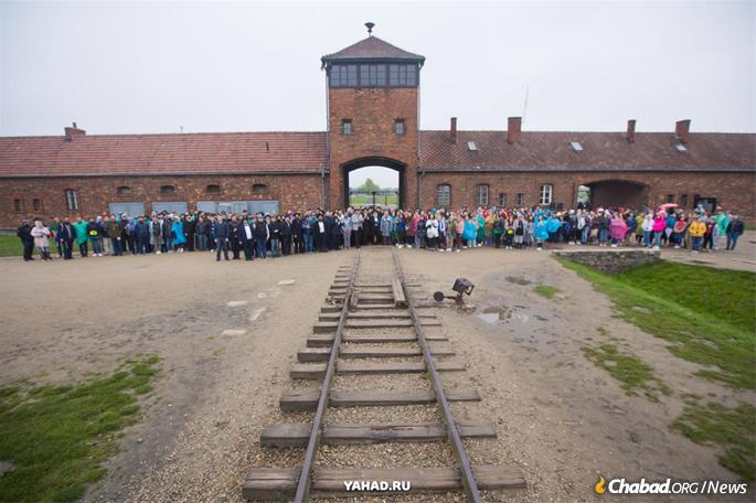 At the gates of Auschwitz