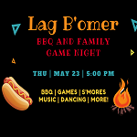 RSVP - Lag Baomer BBQ and Family Game-Night