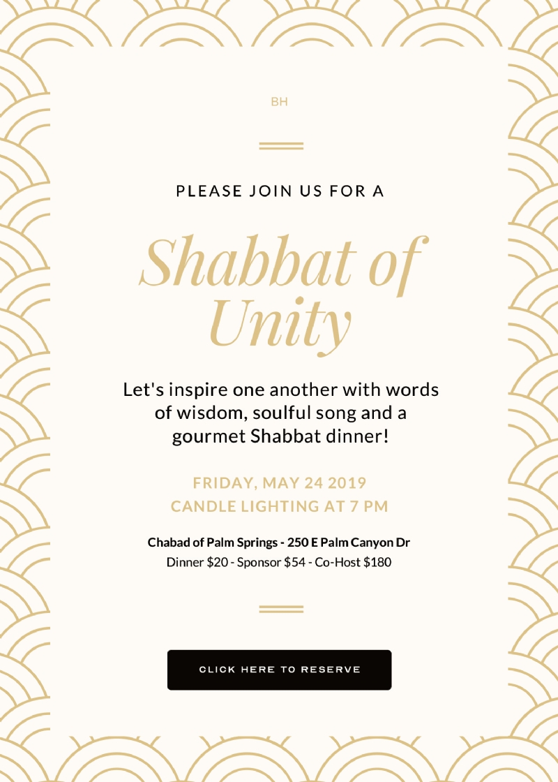 Shabbat of Unity