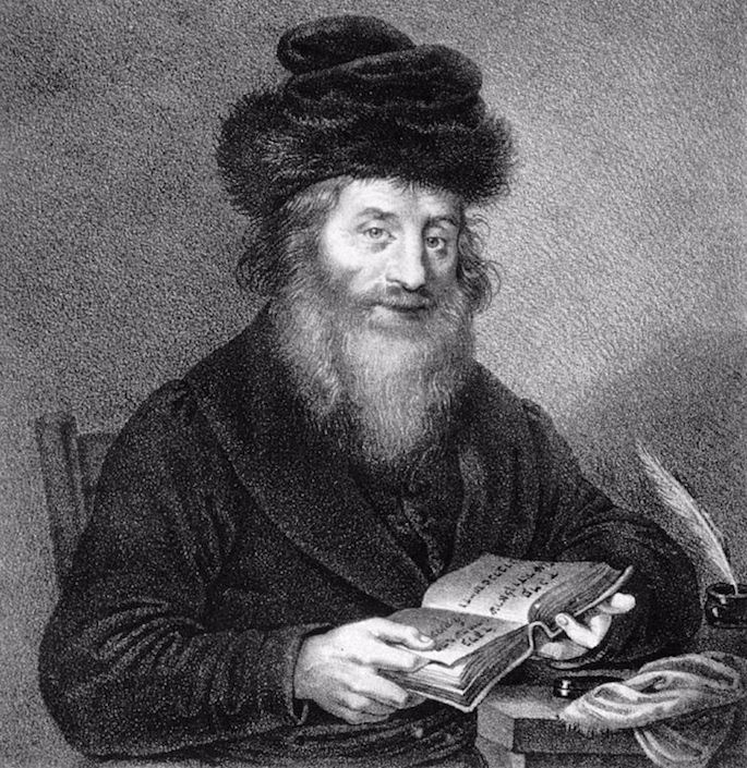 Original lithography of the Chatam Sofer by Josef Kriehuber, circa 1830; now displayed in the Albertina. (Photo by Wikimedia)