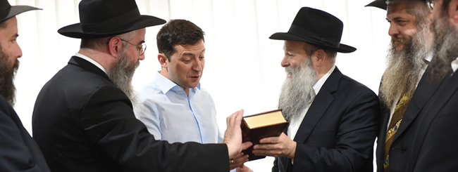 First Jewish President of Ukraine Holds 'Historic' Meeting With Rabbis
