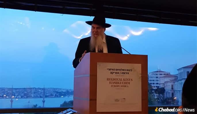 Rabbi Moshe Kotlarsky, vice chairman of Merkos L'Inyonei Chinuch, the educational arm of the Chabad-Lubavitch movement