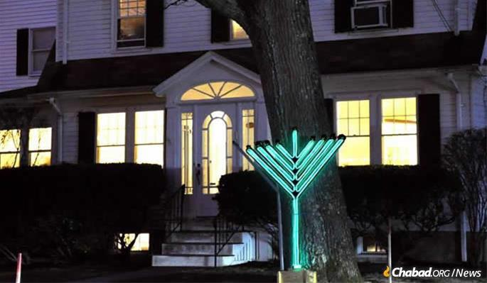 The Chabad Jewish Center in Needham, Mass. (File photo)