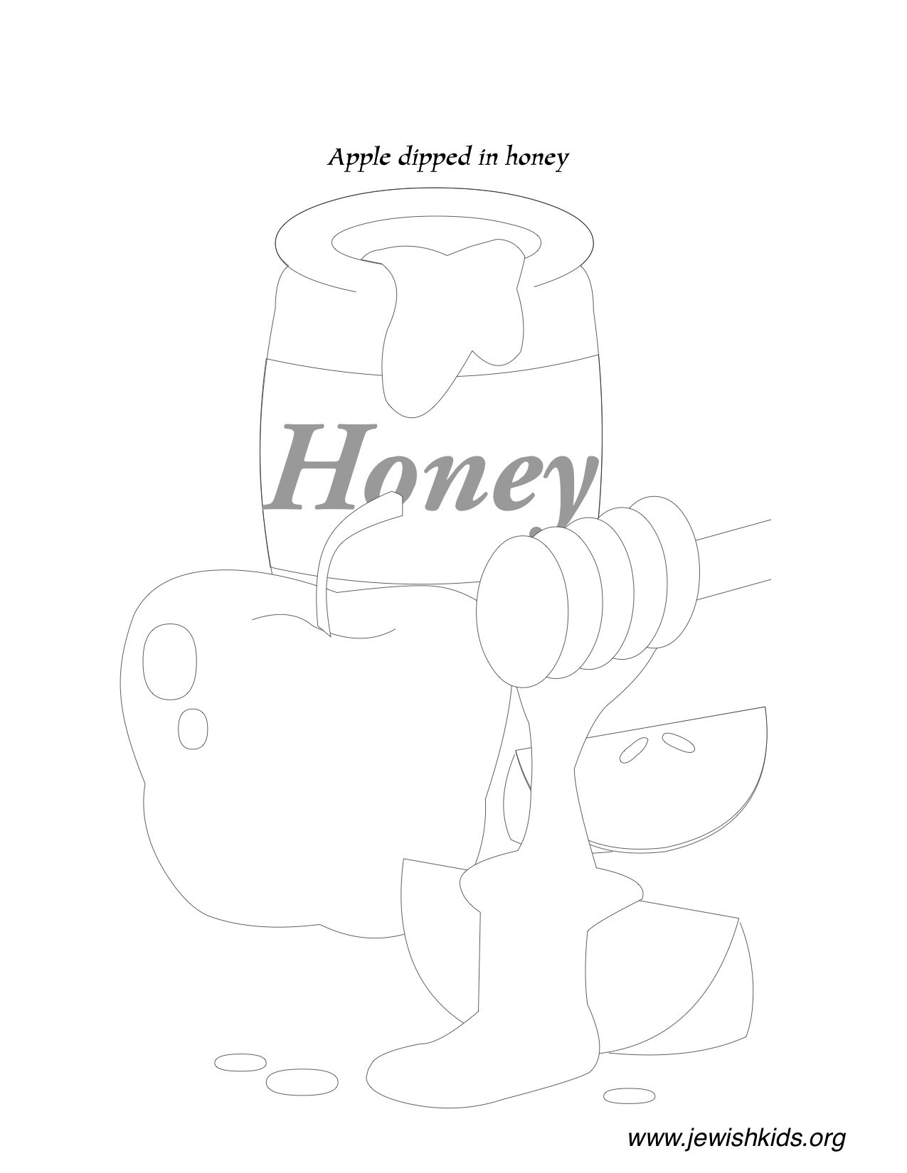 Rosh Hashanah Coloring Pages Children S Crafts And
