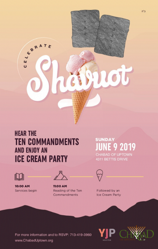Shavuot Ten Commandments and Ice Cream Party