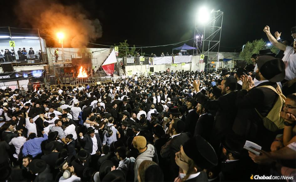 More than 600,000 visitors from around Israel and the world are expected to attend Lag BaOmer celebrations in Meron, Israel, a small mountain village with a population of 938. (Photo: Meir Vaknin/Flash90)