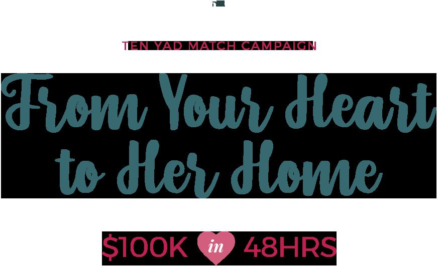 Ten Yad Hachnosas Kallah Match Campaign