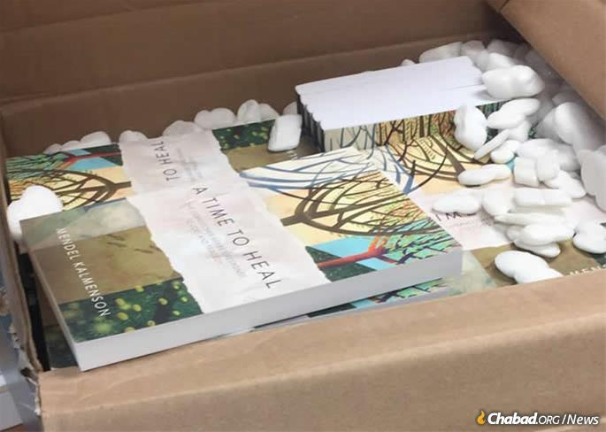 """""""A Time to Heal"""" by Rabbi Mendel Kalmenson was the last book purchased by Lori Gilbert-Kaye before she was murdered in an attack on a Chabad synagogue in Poway, Calif. Copies of the book have been gifted to the 100 or so people who were present during the shooting."""
