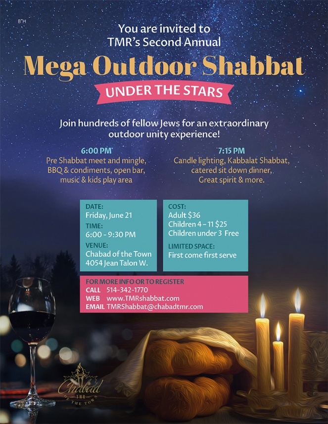 Mega Outdoor Shabbaton - Chabad Of The Town, Montreal