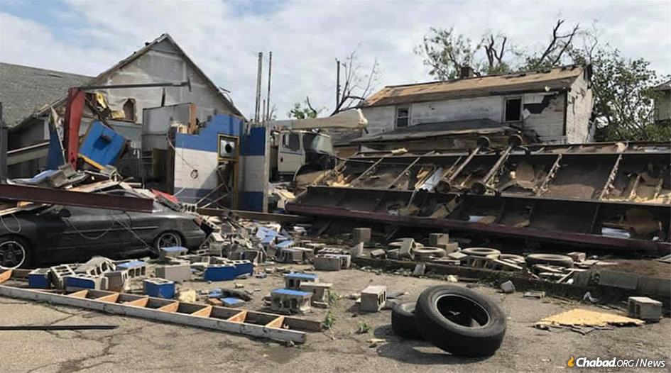 Among those who lost businesses were Zeke and Iris Levi, whose car shop was destroyed. Their daughter, Maytal, a reporter at Fox19 in Cincinnati, broadcast live from Harrison Township conveying to viewers what she was seeing on the ground. (Photo: Maytal Levi)