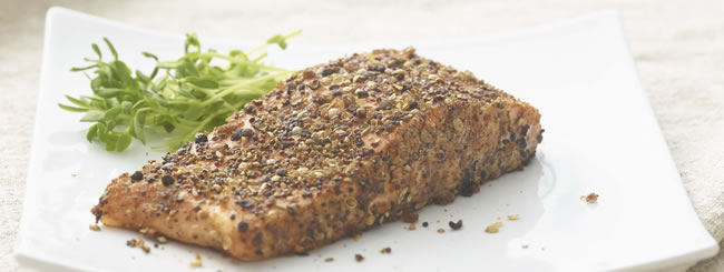 Salmon: Dry Rubbed Roasted Salmon