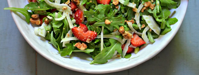 Kale, Spinach, Arugula and Other Greens: Strawberry Fennel Salad