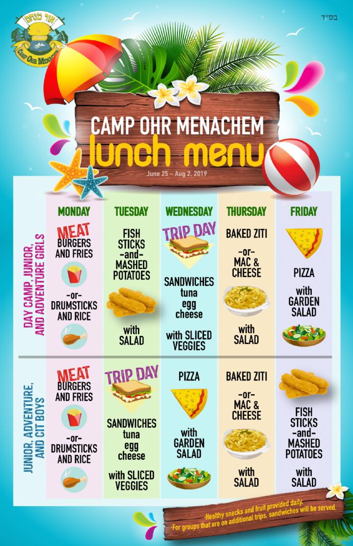 Lunch Menu Ohr Menachem.png