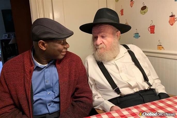 Gabriel Pierre and Rabbi Yisroel Gordon